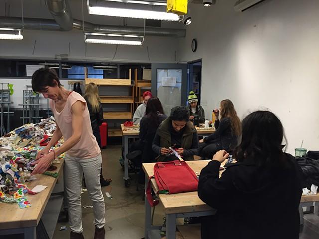 Crochet Jam, University of San Francisco's Artist as Citizen   Artist in the Community Program