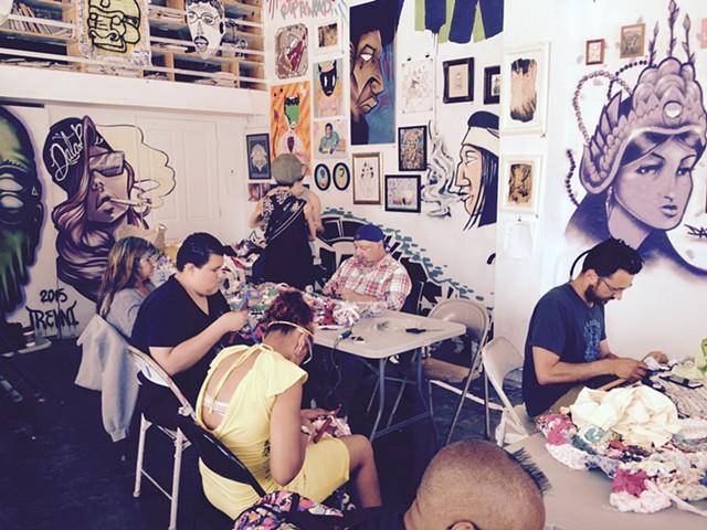 Crochet Jam, Rock Paper Scissors Collective, Oakland, California