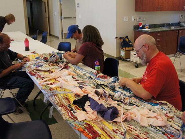 Crochet Jam, Torres Community Shelter, Chico, California  2014  www.chicoshelter.org