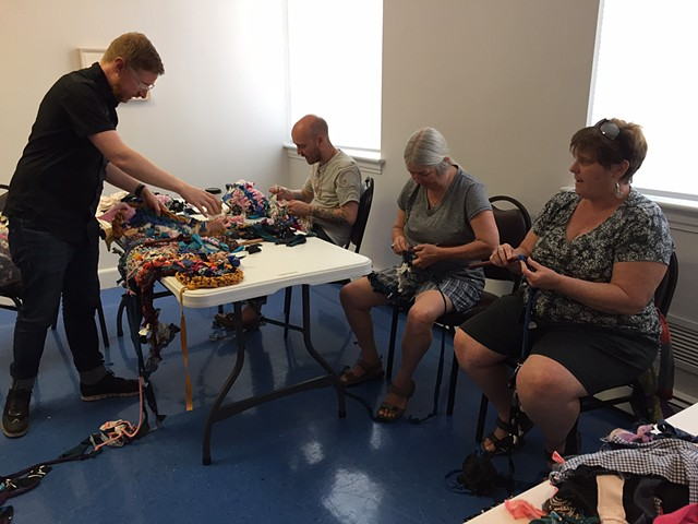 Crochet Jam at Diversity, Richmond VA in conjunction with the Queer Threads Symposium  April 2017