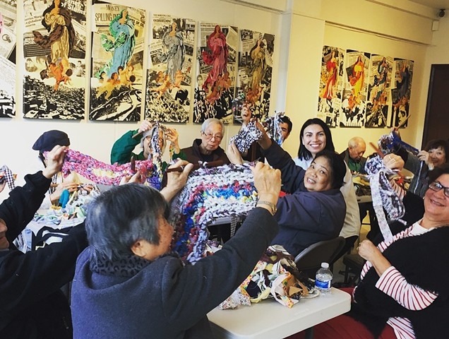 Crochet Jam, Bethany Senior Center, San Francisco