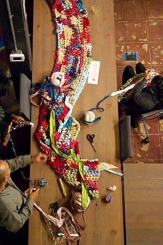 Crochet Jam, Omi Gallery, Impact Hub Oakland, Oakland, CA 2014