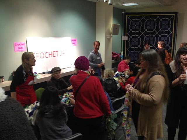 Crochet Jam, Radical Craft Night, Santa Cruz Museum of Art & History, Santa Cruz, California