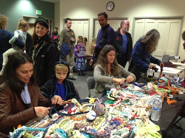 Crochet Jam, Radical Craft Night, Santa Cruz Museum of Art and History, Santa Cruz, California