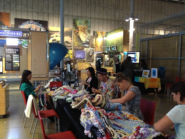Crochet Jam at California Academy of Science's NightLife
