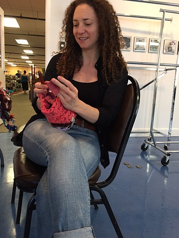 Crochet Jam at Diversity, Richmond, VA in conjunction with Queer Threads Symposium, VCU April 2017