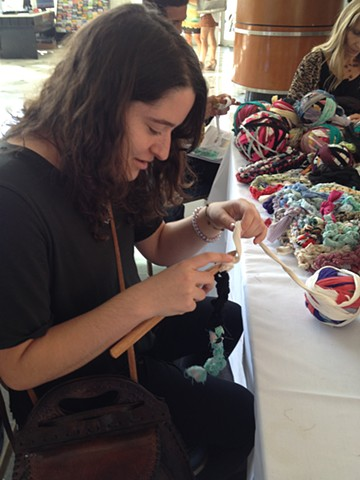 Crochet Jam, NADA MiamiBeach, sponsored by ARTADIA