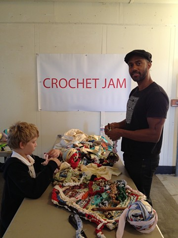 Crochet Jam, Three Point Nine Collective Artists, Hunters Point Shipyards 2014