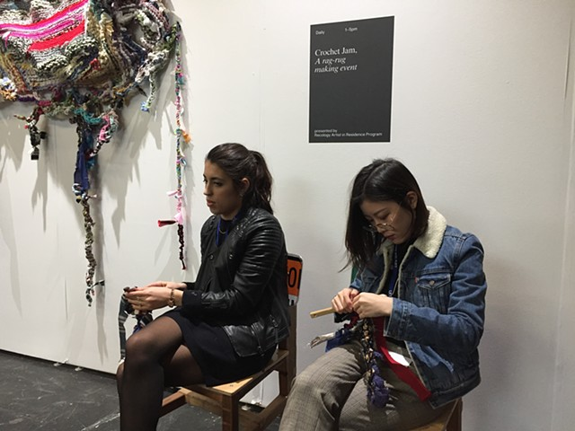 Crochet Jam, Untitled Art Fair 2018, Palace of Fine Arts with Recology Artists-in-Residence and Patrica Sweetow Gallery, San Francisco