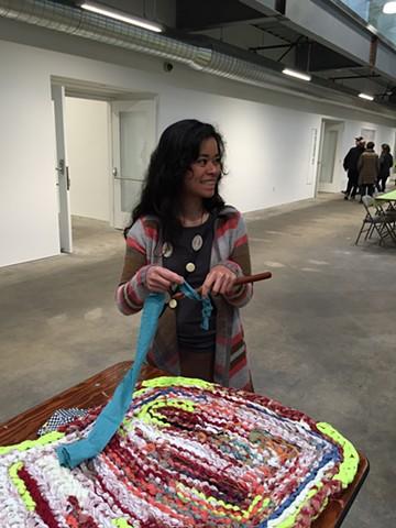 Crochet Jam, Minnesota Street Project, Community Event, San Francisco