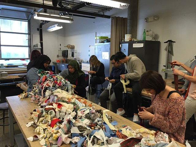 Crochet Jam, University of San Francisco's Artist as Citizen | Artist in the Community Program