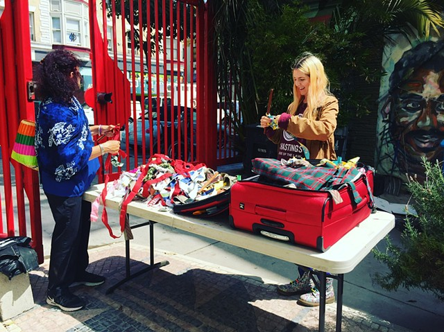 Crochet Jam at The Tenderloin National Forest (TNF), San Francisco