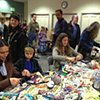 Crochet Jam, Radical Craft Night, Santa Cruz Museum of Art and History, Santa Cruz, California
