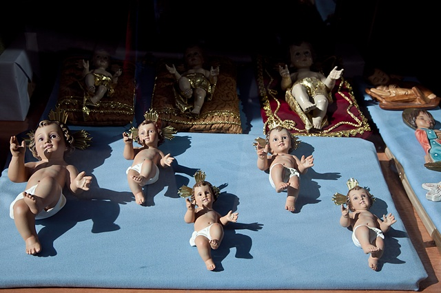 Baby Jesus in a Store Window, Madrid