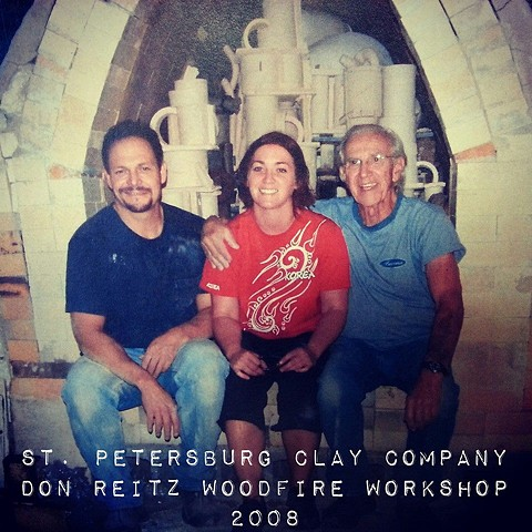 John Balistreri & Don Reitz Woodfire Workshop.  St. Petersburg, Florida.