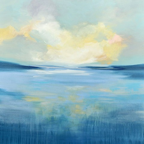 contemporary waterscape painting by Cat Tesla