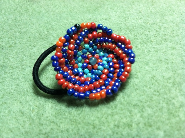 small peyote stitch hair elastic