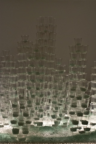 Stacked Glass (Detail)