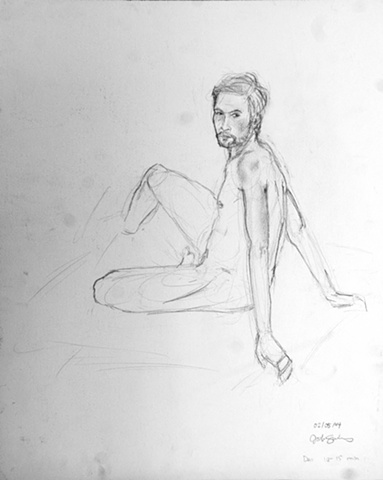 sitting sketch