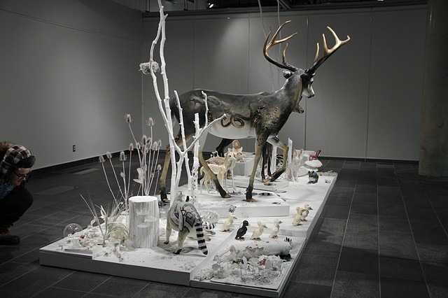 strange nature sculpture taxidermy weird canadian sculptor nathalie grice