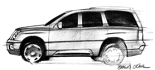 Cadillac Escalade Concept Sketch 06 Side View