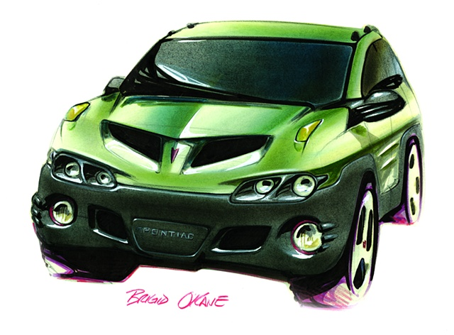 Aztek Concept Rendering  Lime Green Front View