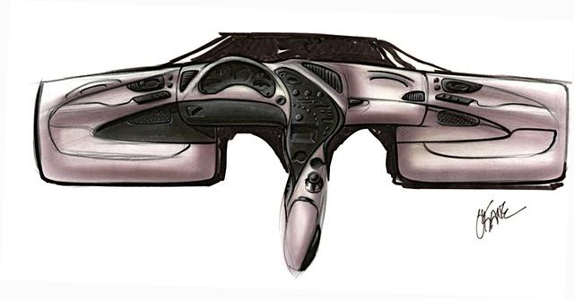 Oldsmobile Intrigue Interior Sketch  Study 06