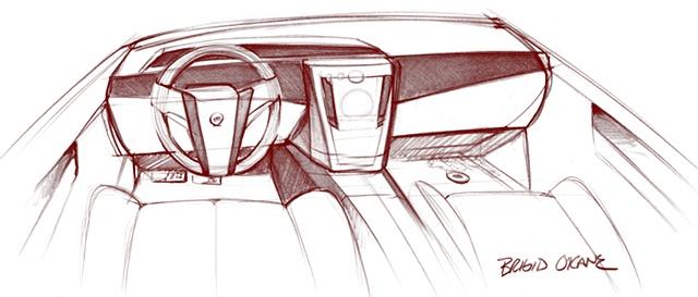 Cadillac Escalade Interior Concept Sketch
