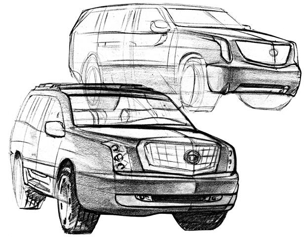 Cadillac Escalade Concept Sketches 01