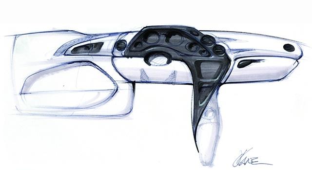 Oldsmobile Intrigue Interior - sketch study 1
