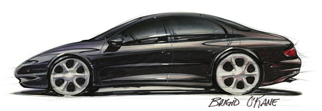 Oldsmobile Antares Concept Rendering Black Side View