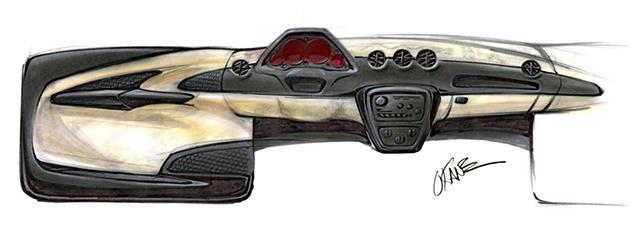Oldsmobile Intrigue Interior Sketch  Study 10