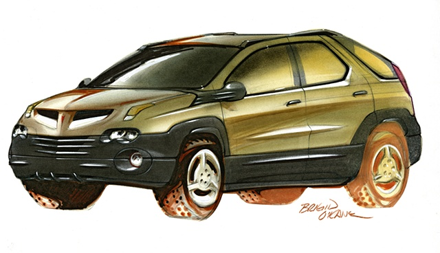 Aztek Concept Rendering Brown Front 3/4 View