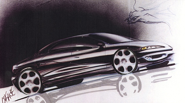 Oldsmobile Antares Concept Rendering Front 7/8 View