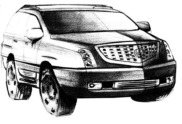 Cadillac Escalade Concept Sketch 04
