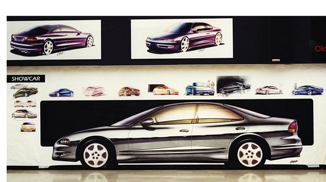 Full size rendering of the Oldsmobile Intrigue at GM Design Center.