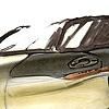 Oldsmobile Intrigue Interior Sketch  Study 12