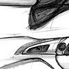 Oldsmobile Intrigue Interior Sketch  Study 14