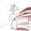 Oldsmobile Intrigue - exterior sketch with demon