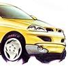 Aztek Concept Rendering Yellow 7/8 Front View