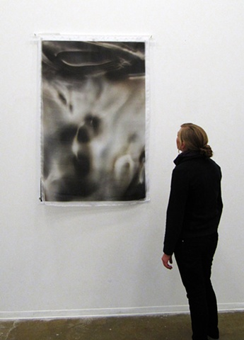 Under Ink Lake Large Scale with Organza Installation View