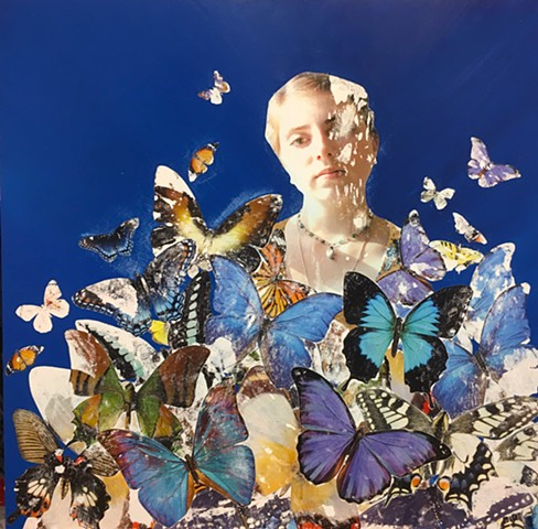 Portrait with Butterflies
