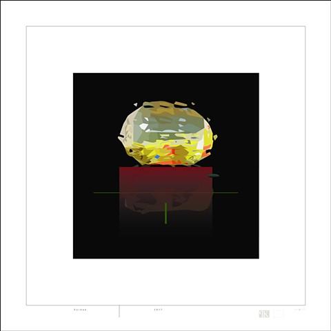 Peter Kemble, digital print, artist, Noren, Turtle Gallery, Deer Isle, Maine, Stonington, Blue Hill, Ellsworth, Bar Harbor