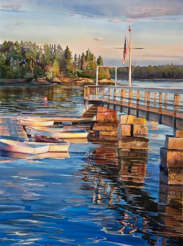 Turtle Gallery Deer Isle Maine Summer 2016 Schedule Art Watercolor Marjorie Glick