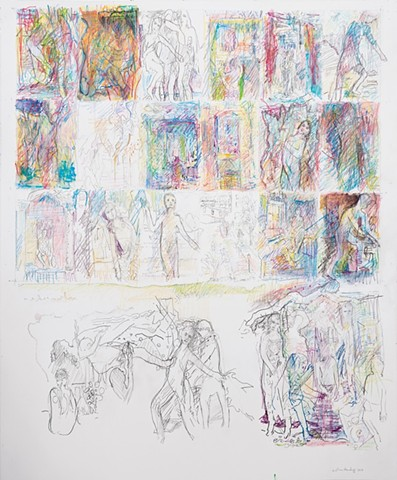 Arthur Hardigg The Turtle Gallery Collage Pencil Colored Pencil on Paper Deer Isle Maine