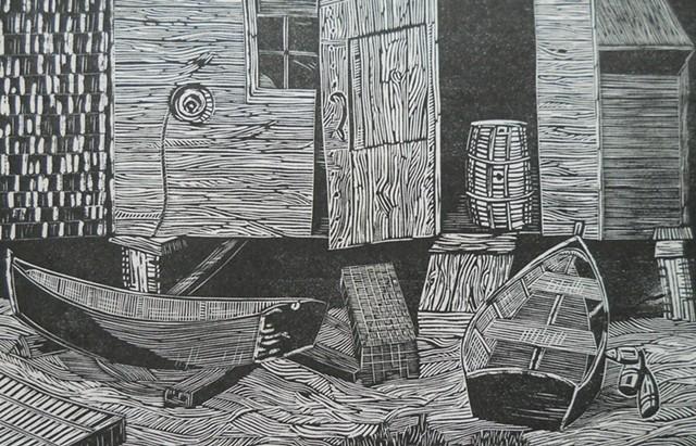 Gene Shaw, artist, prints, Turtle Gallery, Deer Isle, Maine, Stonington, Blue Hill, Bar Harbor