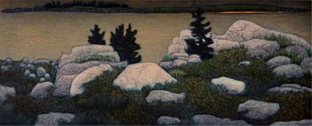 James Groleau printmaker prints mezzotint artist Turtle Gallery Deer Isle Maine