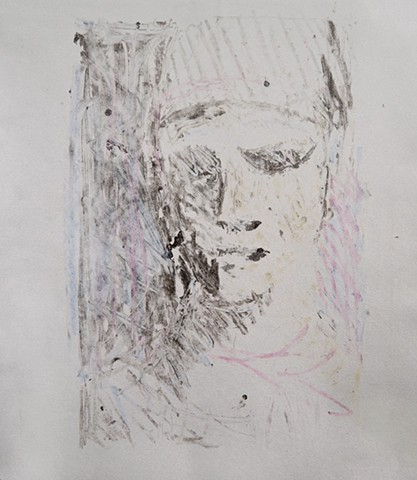 Arthur Hardigg The Turtle Gallery Deer Isle Maine Monoprint Portrait