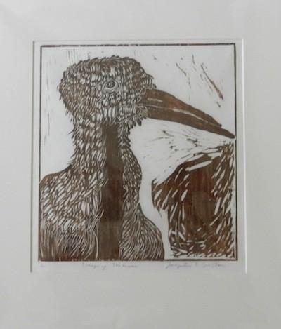 Jacqueline S. Wilson Jackie Wilson Maine artist print woodcut Turtle Gallery Weeping Skimmer