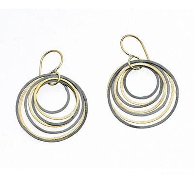 Circle Ripple Earrings